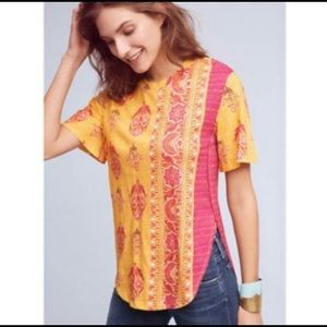 Postmark Delilah Side Split Tee Orange/Pink XXS